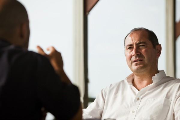 Hélder Sousa Silva falou da renovação em Mafra. - ph. José Guerra