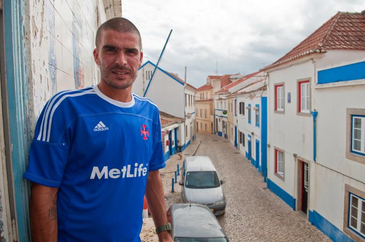 João Afonso na sede do GDUE. - ph. Mauro Mota