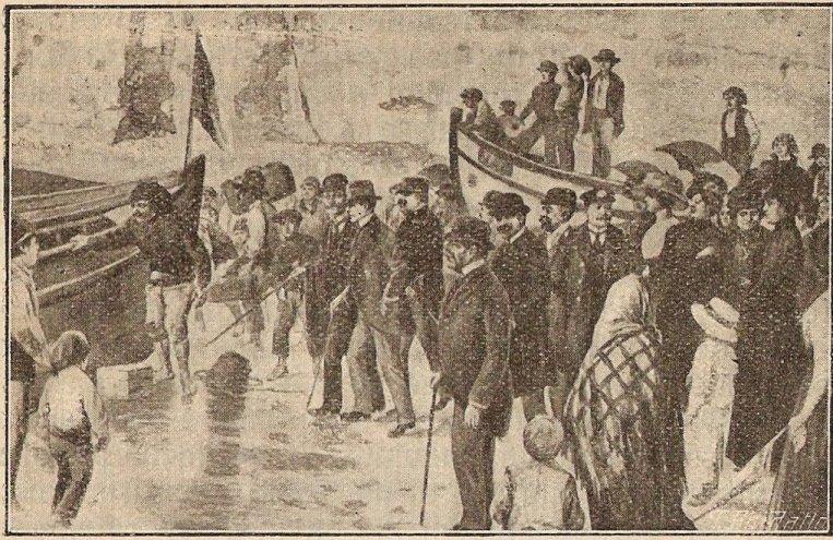 O embarque do rei D. Manuel II na Ericeira. - ph. DR