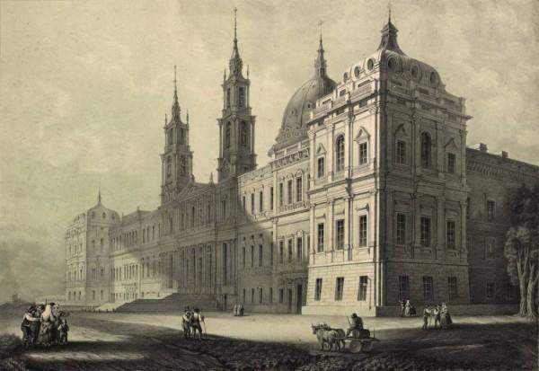 Palácio Nacional de Mafra - litografia de João MacPhail