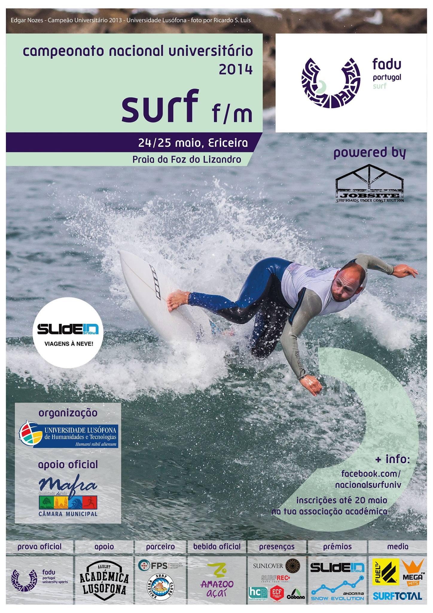Campeonato Nacional de Surf Universitário 2014. - ph. DR