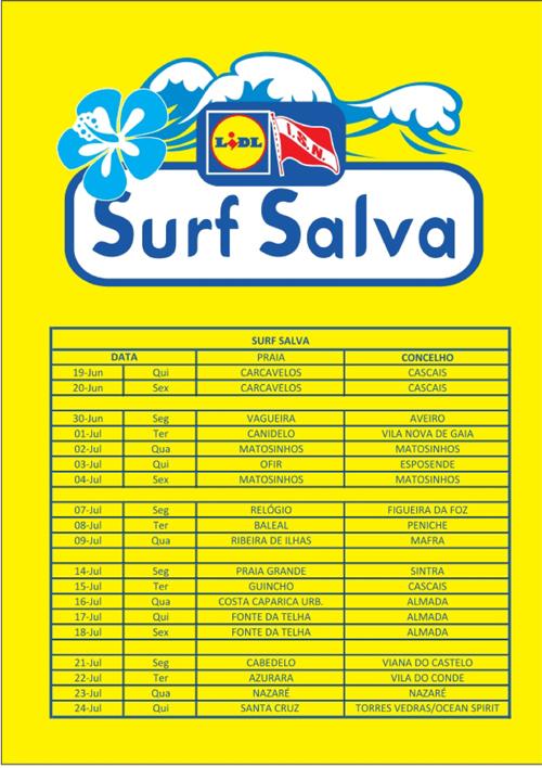Calendário Surf Salva. - ph. DR