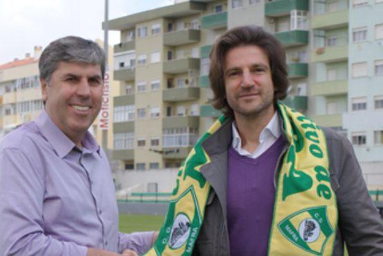 Jorge Simão no Mafra. - ph. DR