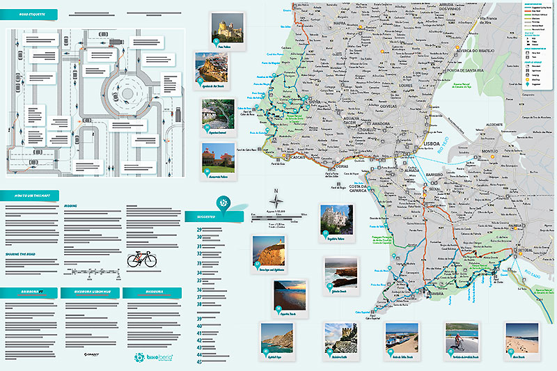 Lisbon Bike Map. - ph. DR