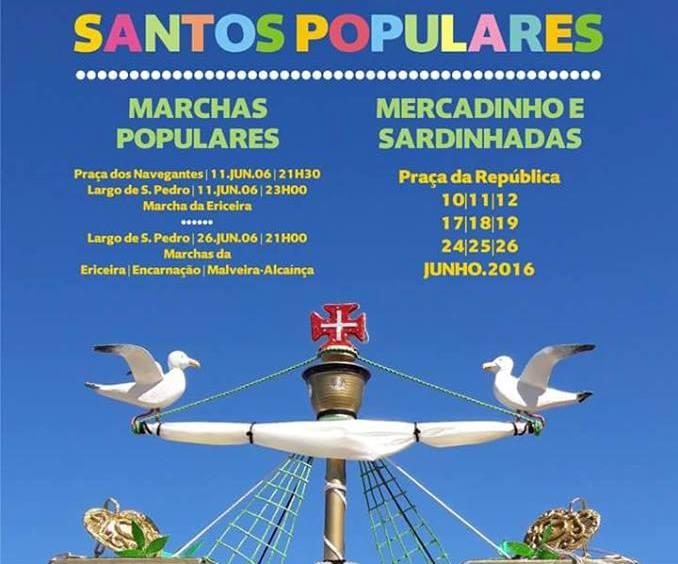 Algumas das iniciativas agendadas para os Santos Populares na Ericeira.