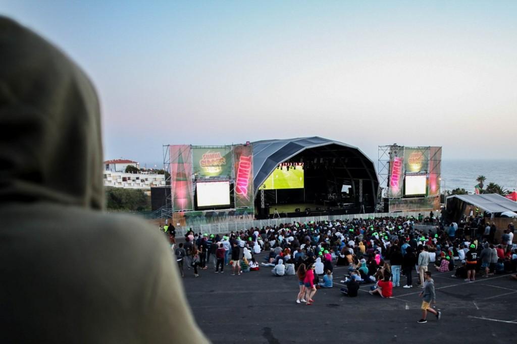 O festival parou para apoiar a Selecção Nacional.