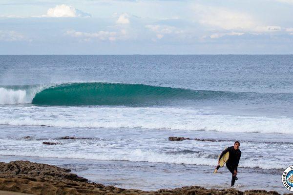 As ondas estiveram pequenas mas perfeitas.