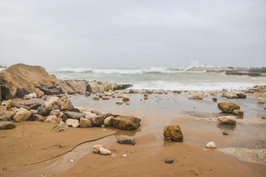 Tempestade Dóris. Porto pesca - ph. AZUL