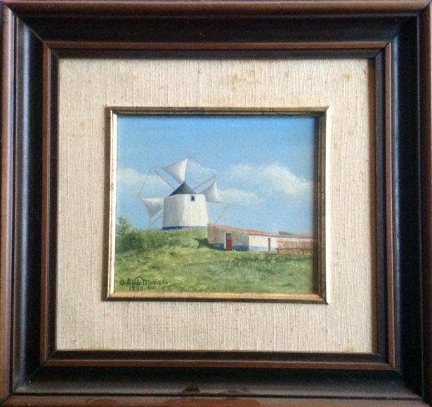 Pintura de Orlando Morais datada de 1990.
