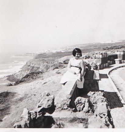 Alice Vieira em menina, na Ericeira, em Agosto de 1952.