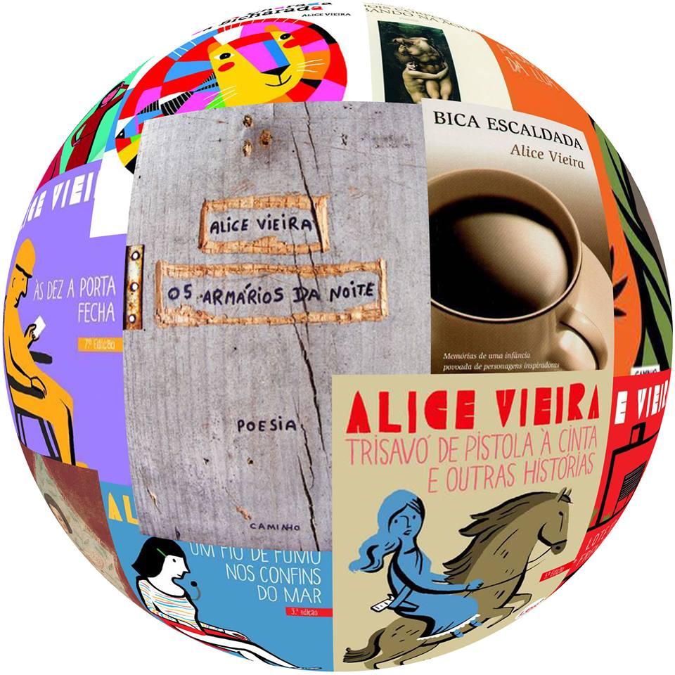 Montagem livros Alice Vieira.