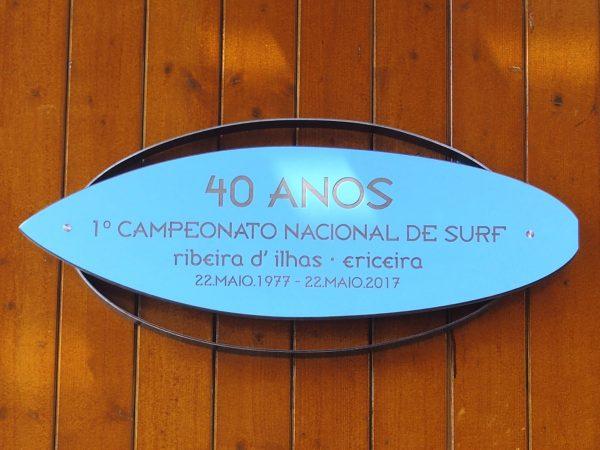 Placa comemorativa 1º Campeonato Nacional de Surf - ph. AHMS-Museu do Surf