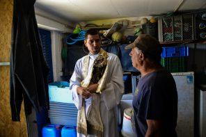 Nª Sra. da Nazaré em visita aos pescadores da Ericeira