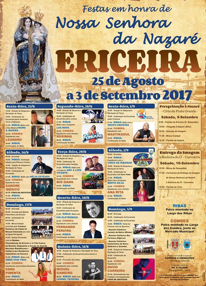 Cartaz Nª Sra Nazaré 2017 Ericeira