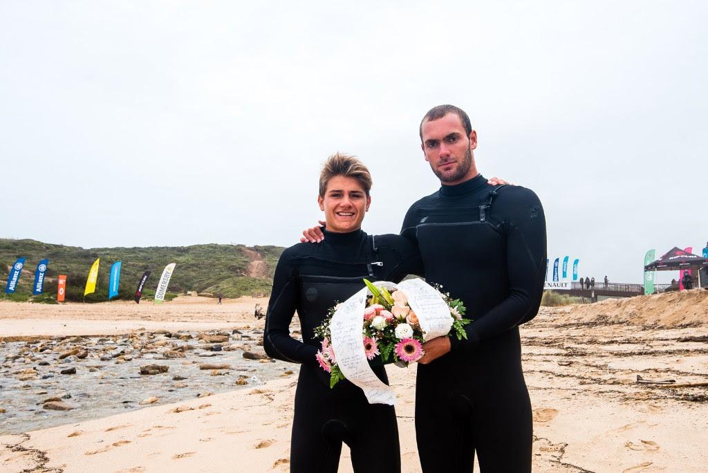 Henrique Pyrrait e Arran Strong - ph. Pedro Mestre / ANSurfistas