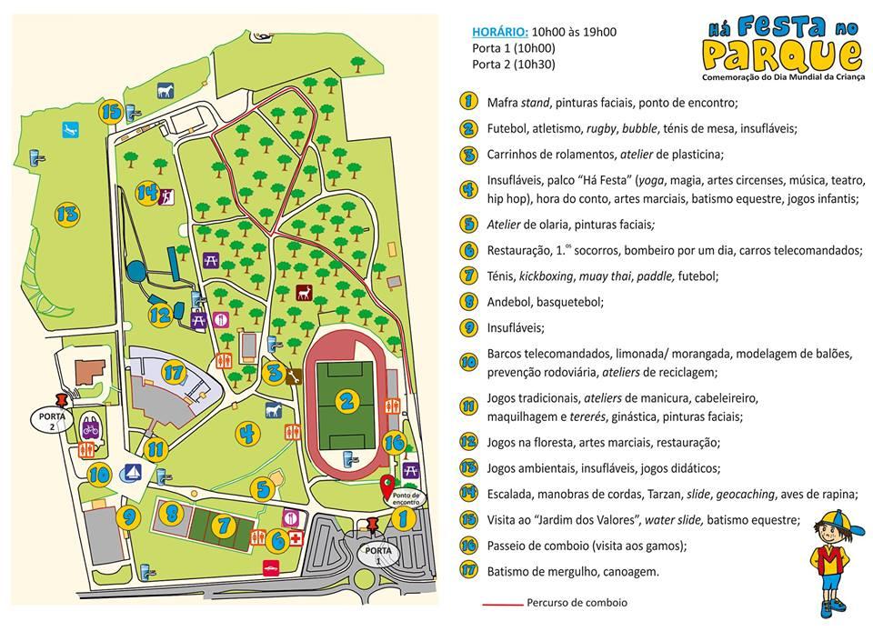"""Mapa """"Há Festa no Parque 2018"""""""