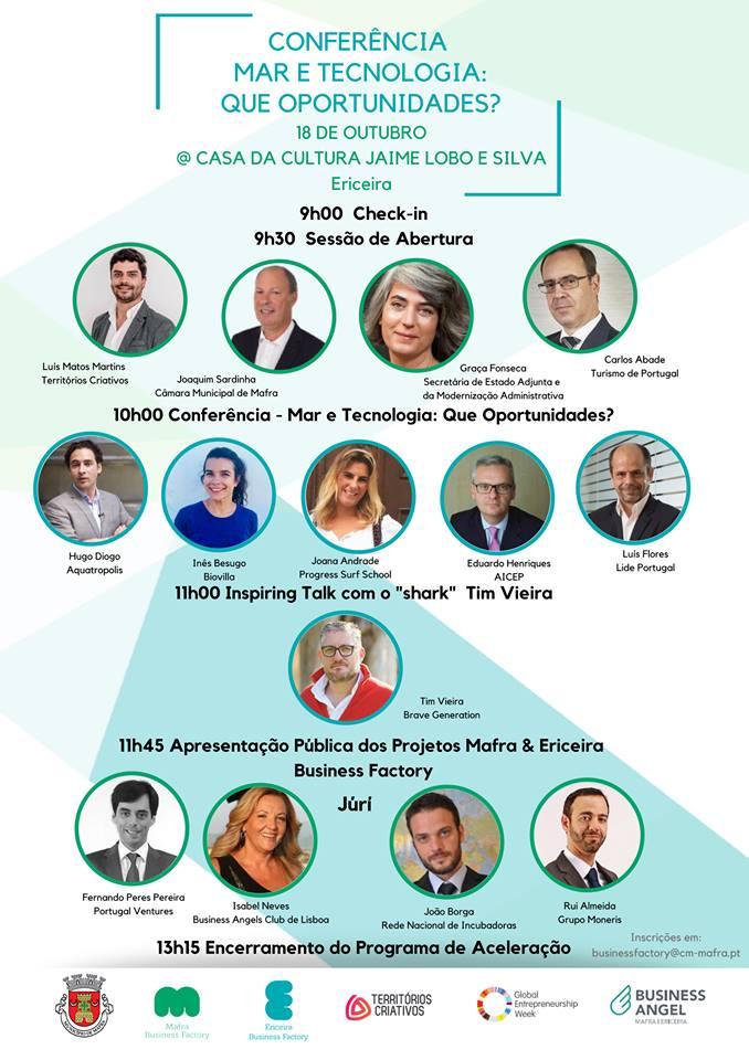 "Cartaz conferência ""Mar e Tecnologia"""