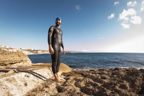 Swimming athlete films documentary in Ericeira