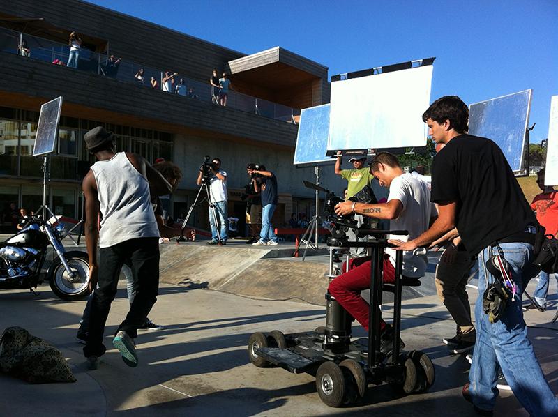 O cenário das filmagens na Boardrider Quiksilver Ericeira