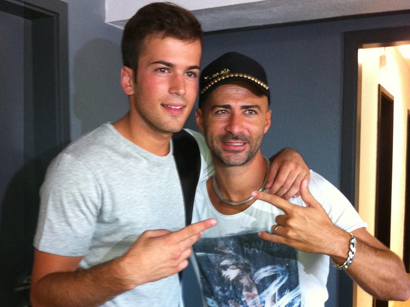 David Carreira e o DJ Diego Miranda