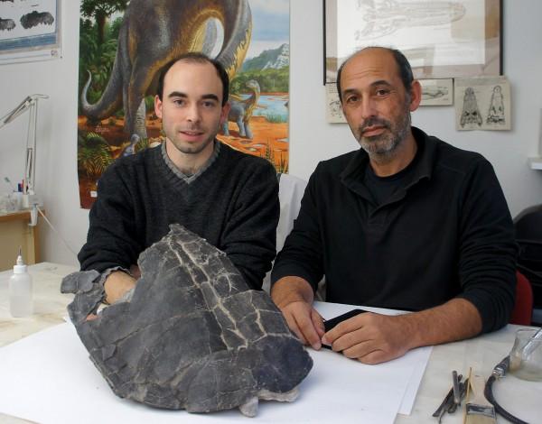Adán Pérez García e Francisco Ortega da Sociedade de História Natural de Torres Vedras. - ph. DR
