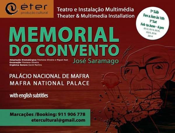 Memorial do Convento em instalação digital. - ph. DR