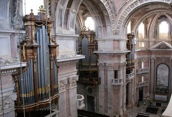 Órgão Basílica Palácio Mafra. - ph. DR