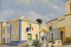 """Ericeira by the eyes of Orlando Morais"" displayed at the centre of the Village"