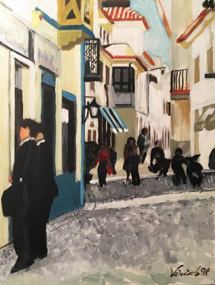 Rua tipica Ericeira - Viriato Rebelo